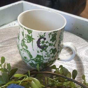 Anthropologie mug Letter C
